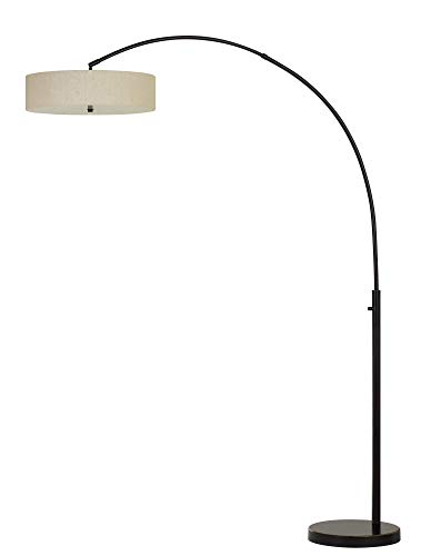 Cal Lighting BO-2841FL-DB Chardon LED 36W 2500 Lumen, 3K Adjustable Metal arc Floor lamp with dimmer Switch, Dark Bronze