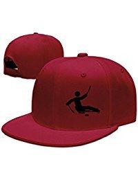 Adult Football Sleds (Custom Unisex Red Adjustable Fashion Sled Hockey Snapback Flat Ove Hat One Size)