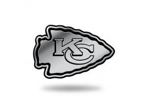 (Rico Industries NFL Kansas City Chiefs Chrome Finished Auto Emblem 3D Sticker)