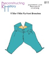 (1730s-1760s Fly-Front Breeches Pattern)