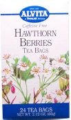 Hawthorne Berries 24 Bags (Alvita Tea Bags, Hawthorn Berries - 24 Tea Bags, 6 Pack)
