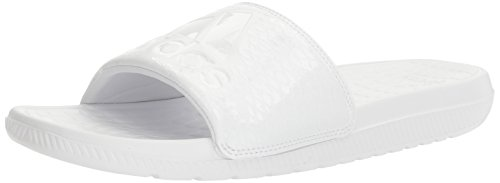 white adidas slides - 2