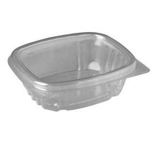 4 Oz Clear Hinged Delicontainers 4/100 Case by Genpak