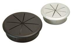 """Cable Grommet 2 3/8""""(60mm), Flexi-top, Plastic, Black 1 pc"""