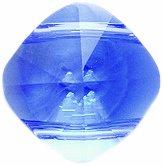 Swarovski 5180 Two Hole Squares Beads, Transparent Finish, 14mm, Sapphire, 2-Pack