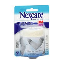 Nexcare Athletic Wrap, White - 3 Inches X 2.2 Yards, Pack of 2 (Athletic Nexcare Wrap)