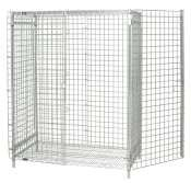 """Quantum Storage Systems 246060EPC Security Enclosure Panel for Wire Shelving Units, Includes Back and Side Portions, Chrome Finish, 60"""" Height x 60"""" Width x 24"""" Depth from Quantum Storage Systems"""