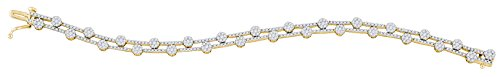 2 3/4 Total Carat Weight DIAMOND FLOWER BRACELET by Jawa Fashion