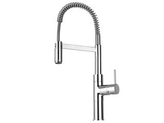 Elba Kitchen Faucet with Spring Spout Finish: Chrome