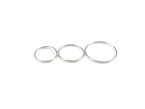 [Nose Ring Hoop, Silver Base (8mm)] (Esmeralda Costume Diy)
