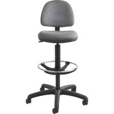 SAF3401DG - Safco Precision Extended Height Swivel Stool w/Adjustable Footring