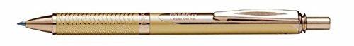 Pentel EnerGel Alloy RT Retractable Liquid Roller Gel Pen - Metal Barrel 0.7mm - Gold Body Blue Ink
