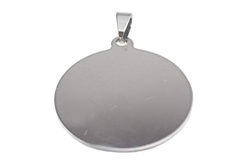 10 Stainless Steel Stamping Blanks Charms Dog Tag Blank Discs Etching Blank Engraving Blank (34mm (Round))
