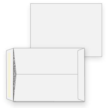 9 x 12 Catalog Envelope - Black Inside Tint - 28# White - Open End (Pkg of 100)