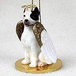 Pit Bull Terrier Angel Dog Ornament - White