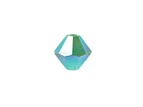 (Swarovski Crystal, 5328 Bicone Beads 3mm, Turquoise AB 2X, Wholesale Packs | Pack of 500)