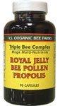 YS Organic Bee Triple Complex Gelée Royale Pollen Propolis - 90 Capsules