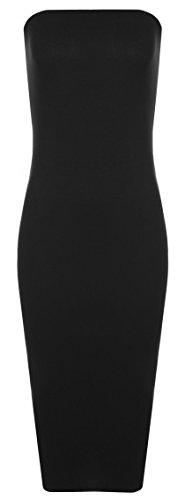 cream and black strapless dress - 7