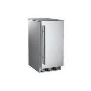 26 lb Brilliance Nugget Ice Machine Door Finish: Unfinished, Drain Type: Pump