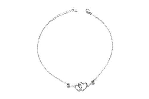 ILORÉ Damen Fußkette aus 925 Sterling Silver Silber - Verstellbare Fußkettchen - Nickelfrei
