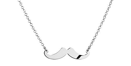 Canyon bijoux Collier moustache en argent 925 passivé, 3.84g