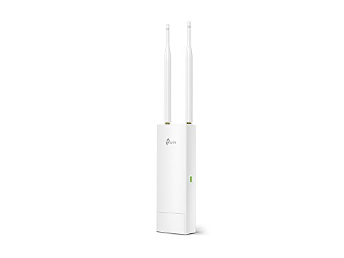 TP-Link Long Range 11n 2.4G Wireless Outdoor Access Point, IP65 Waterproof, Ideal for Garden Wireless, w/Passive PoE Injector, Flexible Installation, Free EAP Controller Software (EAP110-Outdoor)