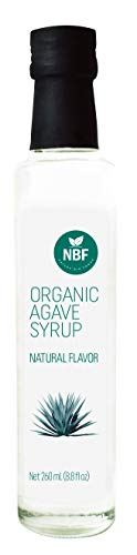 - NATURA BIOFOODS Organic Premium Natural Agave Nectar, Agave Syrup Sweetener, Gluten Free, Vegan, Low Glycemic Index. Natural sweetener that also enhances digestive health. (Small)