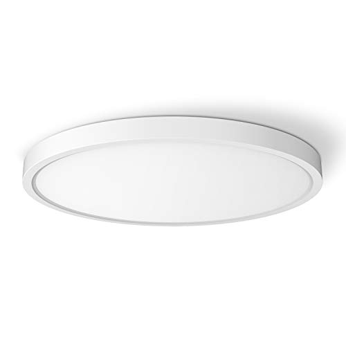 TALOYA LED Ceiling Light, 12 inch 20w (150w Equivalent) White Shell Panel Light, Surface Mount Ceiling Fixture for Living Room, Bedroom, Hallway,3 Color Temperature Available(3000k, 4000k, 6500k )