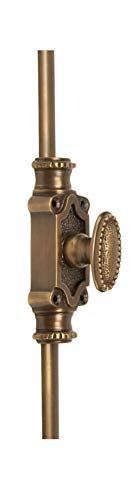 A29 Hardware 2 Feet Beaded Style Brass Cremone Bolt for Cabinets, Antique Brass - Cremone Bolt