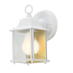 Hampton bay white 1 light outdoor wall lantern wall porch lights hampton bay white 1 light outdoor wall lantern aloadofball Choice Image