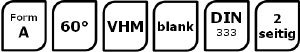 0,50x3,15 SPPW Zentrierbohrer VHM DIN333 Form A