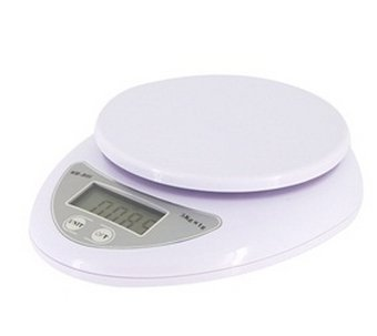 (LuckyStone Wh-B05 Electronic Digital Kitchen Food Scale 5000 g/1 g, White)