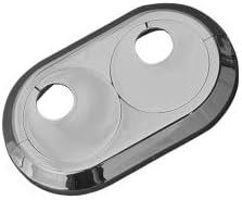 22mm, verchromt Mitte//Mitte 5 ST/ÜCK Doppelrosetten variabel in wei/ß und verchromt//Lochdurchmesser 16 mm auch in ANTHRAZITGRAU passend f/ür Rohrabst/ände von 30-70 mm