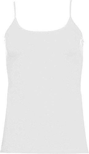 Spaghetti-Top   Feminines Damen Top mit dünnen Trägern Farbe Weiß Größe XS