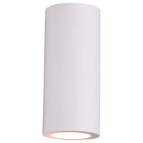 Trio Leuchten Zazou 201100201 - Lámpara de pared (yeso, incluye 2 bombillas GU10), color blanco