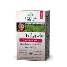 Organic India Tulsi Tea, Cinnamon Rose 18 bags (Pack of 3)