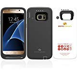 ZeroLemon Galaxy S7 7500mAh Rugged Battery Case with Soft TPU Full Edge Protection-Black(NOT for The Galaxy S7 Edge OR S7 Active) (Samsung Galaxy S7 Edge Backpack Battery Case)