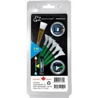 VisibleDust EZ Sensor Cleaning Kit PLUS with 1.15ml VDust Plus Liquid Cleaner, 5 Green 1.6x Vswabs, Sensor Brush