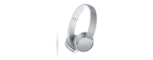 Sony MDR-ZX660AP Lightweight Over-Ear Headphone with Smartphone Control - White