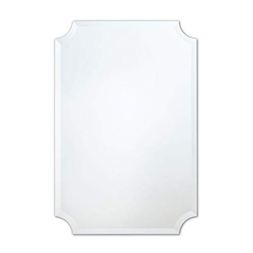 The Better Bevel Frameless Rectangle Wall Mirror | Bathroom, Vanity, Bedroom Rectangular - Beveled Mirrors Edge X 30 24 Bathroom