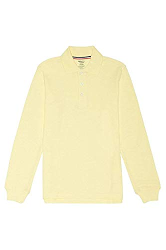 French Toast Little Boys' Toddler Long Sleeve Pique Polo, Yellow, 6
