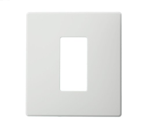 Wide Dimmer 1 (Leviton AWP0F-1W Wallplate for Renoir II Architectural Wall Box Dimmer, Fins Left On, 1 Wide Dimmer Supported, White)