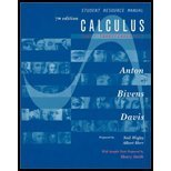 Instructor's Solutions Manual to Accompany Calculus Late Transcendentals Combined, Howard Anton, 0471434957