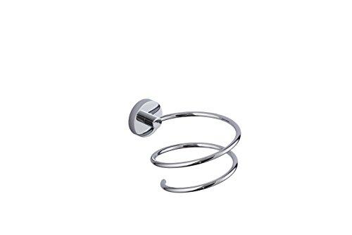 KTY Hair Dryer Holder, Wall Mounted Hair Dryer Rack Stainless Steel Blow Dryer Rack Dryer Hanging Rack, Space Organizer for Bathroom/Bedroom/Washroom/Barbershop, Chrome and Silver