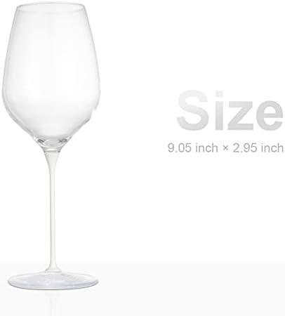 Copas de vino CHEER MODA con varilla de color, blanco