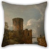 [Elegancebeauty Pillow Cases Of Oil Painting George Howland Beaumont - Conway Castle,for Couch,bf,teens Girls,club,dinning Room,couples 16 X 16 Inches / 40 By 40 Cm(twice] (Nightwing Costume Amazon)