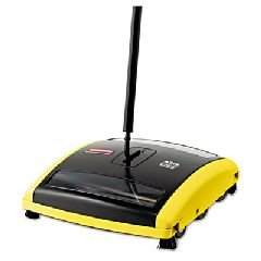 Rubbermaid Brushless Mechanical Sweeper, 44'' Handle, Black/Yellow RCP 4215-88 BLA