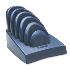 Kensington Insight Desktop Paper - KMW 62061 Insight Priority Puck Five-Slot Desktop Copyholder, Plastic, Dark Blue/Gray