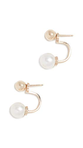 - Mateo Women's 14k Gold with Freshwater Cultured Pearl Drop Earrings, Yellow Gold, One Size