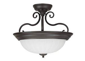 Craftmade X124-OB Bowl Semi-Flush Mount Light with Frosted Melon Glass Shades, Oiled Bronze Finish (Flush Pan Semi)